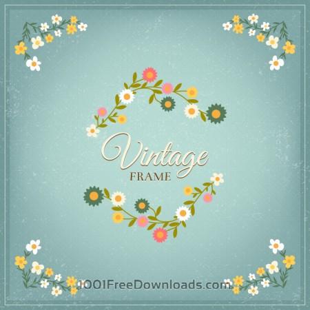 Free Vintage floral illustration