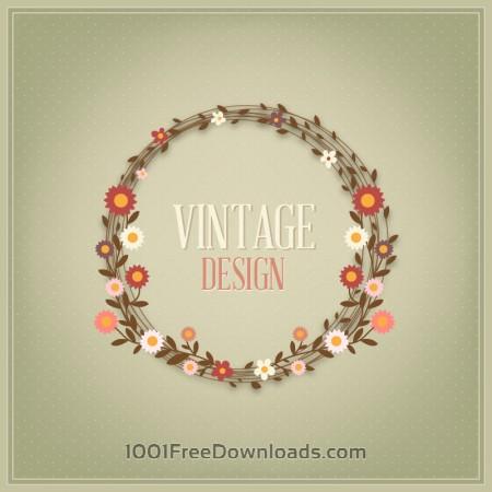 Free Floral vintage card