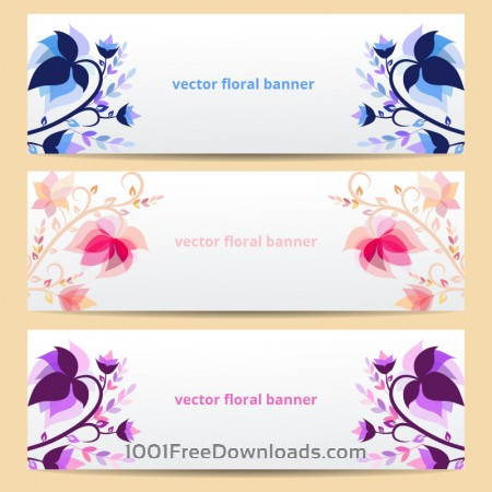 Free Floral vector banners