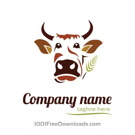 Free Cow logo design