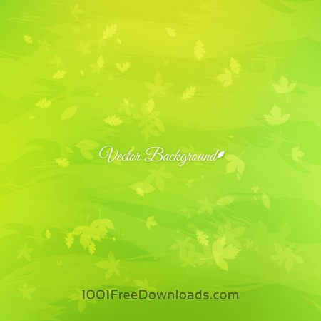 Free Green leaves abstract background
