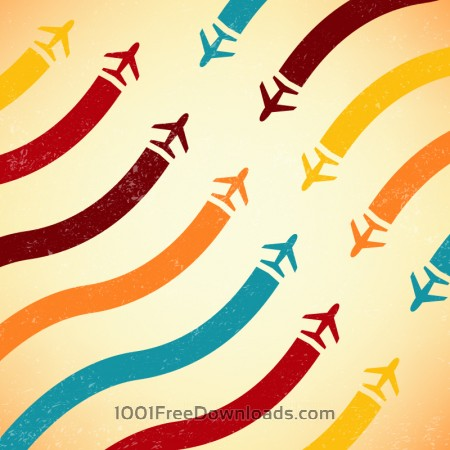 Free Abstract airplane illustration