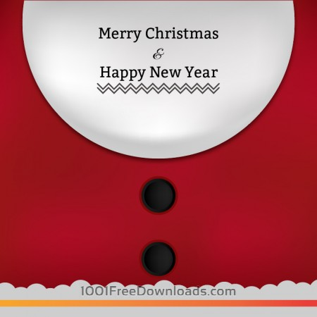 Free Christmas illustration with typography