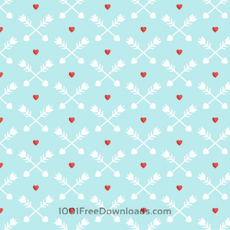Free Love pattern with red hearts and arrows