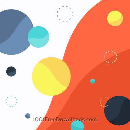 Free Colorful Circles on Wave Background