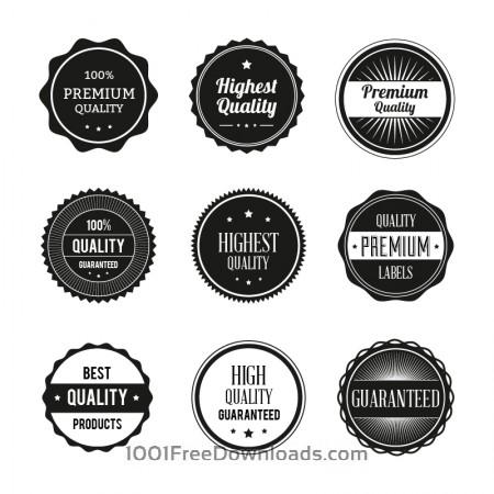 Free Badges vector set