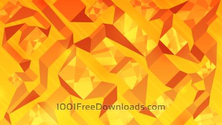 Free Orange Abstract Ribbons