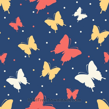 Free Butterfly vector pattern
