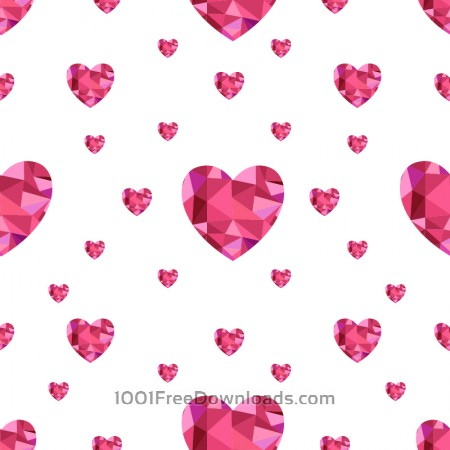 Free Love pattern with hearts