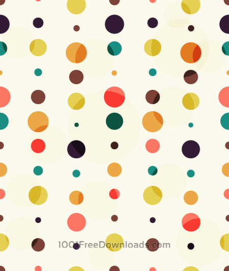 Free Colorful Dots Pattern