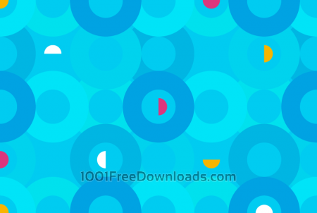 Aqua Circles Pattern