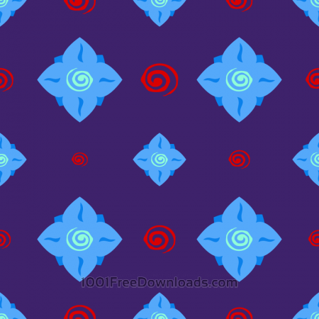 Free Abstract Flower Pattern