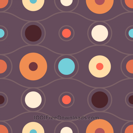 Free Abstract Retro Circles Pattern