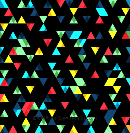 Free Small Colorful Triangles Pattern