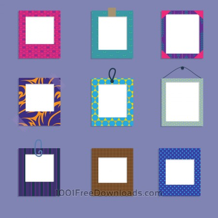 Free Vector set of frames