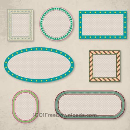Free Vector set of frames