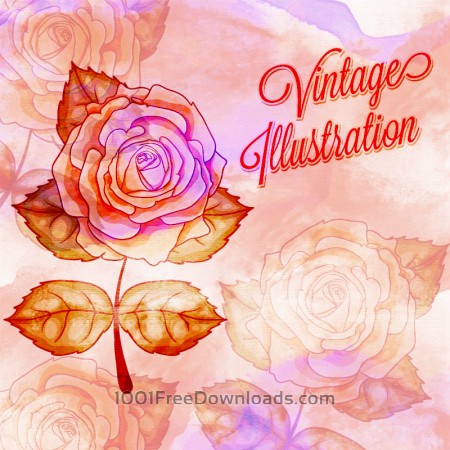 Free Vintage flower illustration