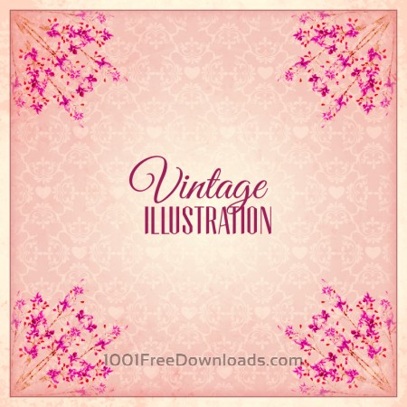 Free Vintage flower illustration