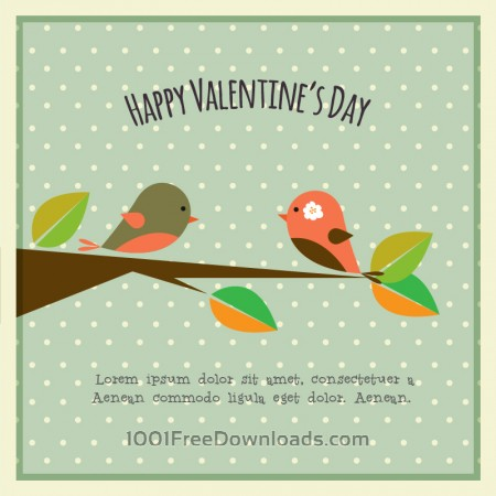 Free Happy Valentine's Day vector illustration