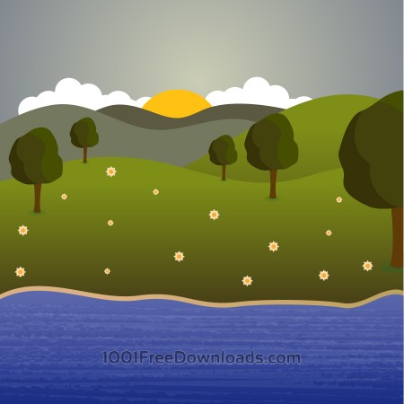 Free Landscape illustration