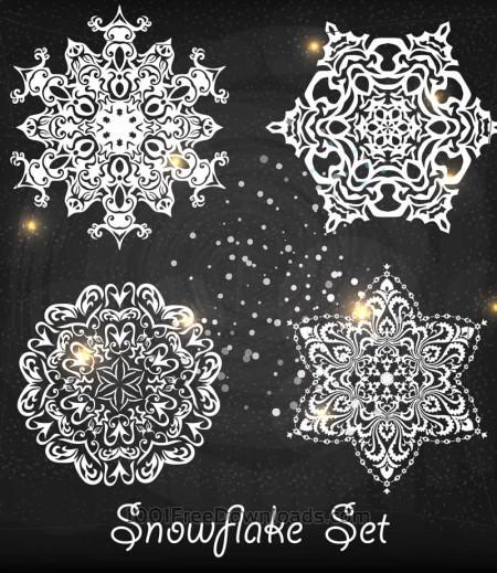 Free Christmas snowflake