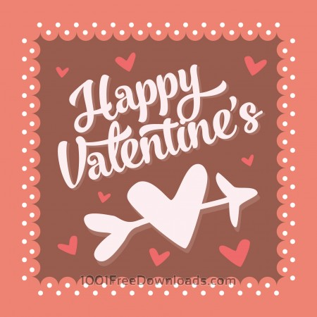 Free Valentines day vintage typographic background