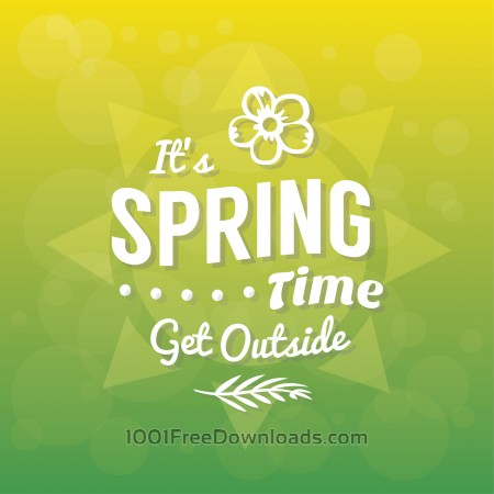 Free Spring Typographic Background