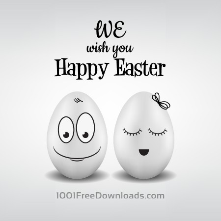 Free Easter pattern with eggs and typography
