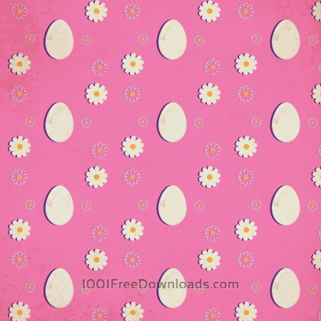 Free Easter pattern with eggs and flowers
