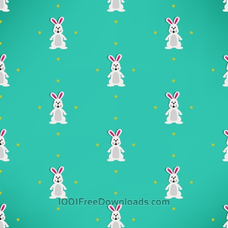 Easter pattern with rabbits