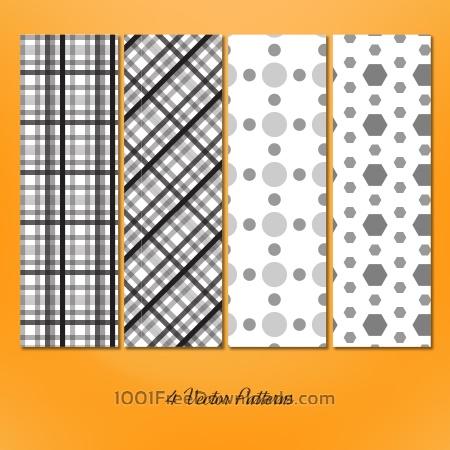 Free Geometric Seamless Patterns Set