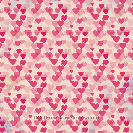 Free Valentine's day vintage background with hearts