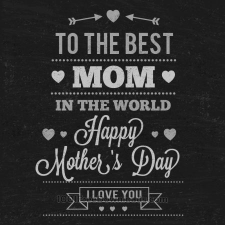 Free Mother's day Typography On Chalkboard