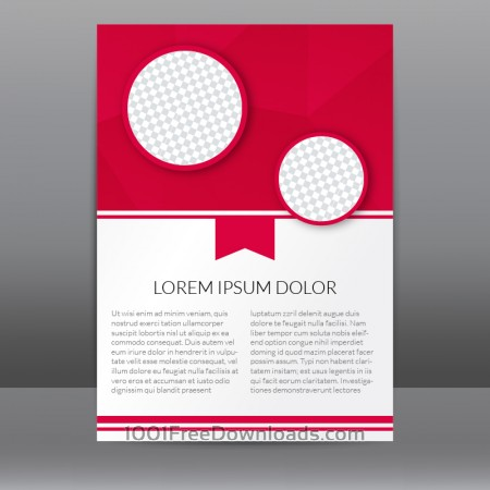 Free Red Flyer Template With Polygonal Background