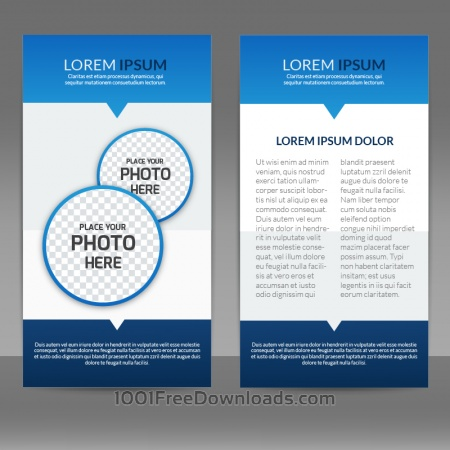 Free Blue Flyer Template