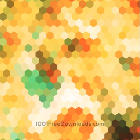 Free abstract yellow hexagon pattern background