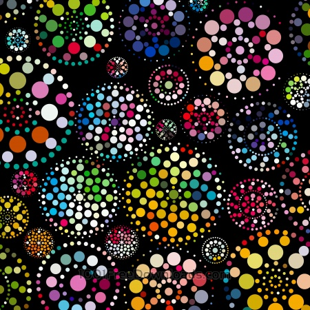 Free abstract colorful dots pattern background