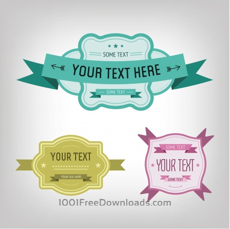 Free Vector card with some text for design