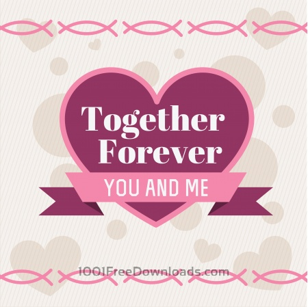 Free Vector card with some text for wedding or birthday