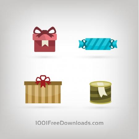 Free Vector icons for birhday or wedding design