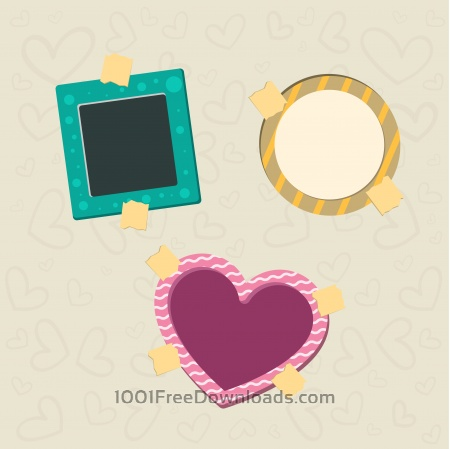 Free Vector decoration frames for birhday or wedding design