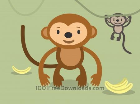 Free Vector cartoon wild characters illustration