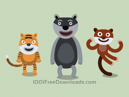 Free Vector cartoon africa characters illustration