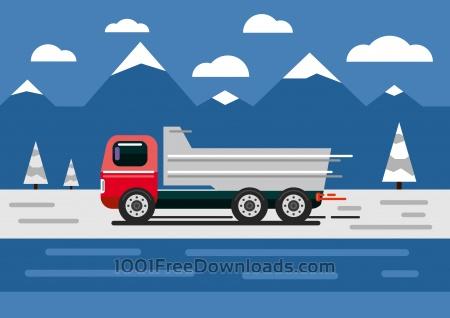 Free Vector transport illustration for design