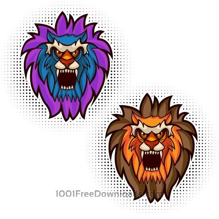 Free Lion vector mascot
