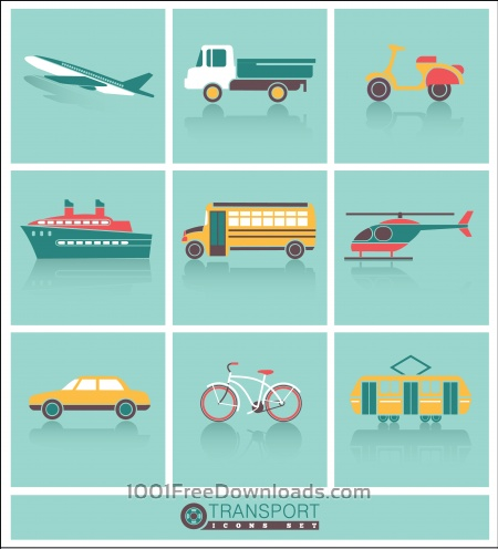 Free Transportation icons set
