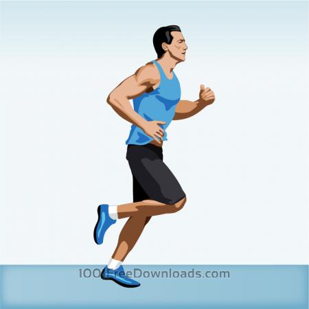 Free Man jogging