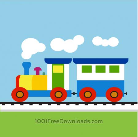 Free Colorful Child train