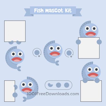 Free Fish mascot