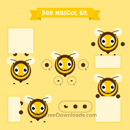 Free Bee mascot